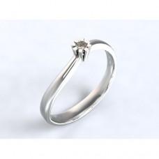 Zlatý zásnubní prsten s diamantem AUZSPD0014 - bílé zlato