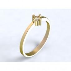 Zlatý zásnubní prsten s diamantem AUZSPD0015