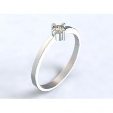 Zlatý zásnubní prsten s diamantem AUZSPD0016 - bílé zlato