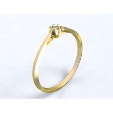 Zlatý zásnubní prsten s diamantem AUZSPD0023