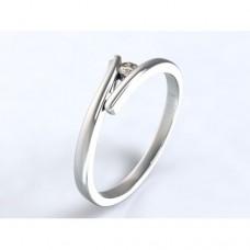 Zlatý zásnubní prsten s diamantem AUZSPD0026 - bílé zlato