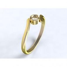 Zlatý zásnubní prsten s diamantem AUZSPD0027