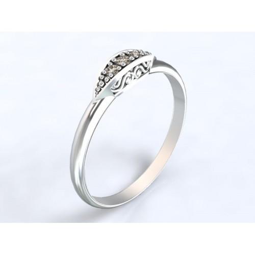 306d100c1 Zlatý zásnubní prsten se zirkony AUZSPZ0034 - bílé zlato