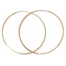 Zlaté náušnice kruhy obří AUBAZAR0038 - 68 mm