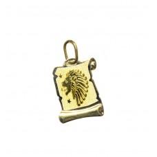 Zlatý přívěsek destička znamení lev AU0817