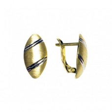 Zlaté náušnice - celozlaté AU0755 - kombinované zlato