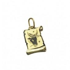 Zlatý přívěsek destička znamení býk AU0825