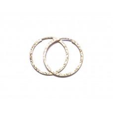 Zlaté dámské náušnice kruhy střední AUBAZAR0017 - žluté zlato - 26 mm