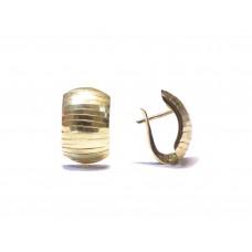 Zlaté dámské visací náušnice celozlaté AUBAZAR0091 - žluté zlato