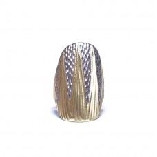Celozlatý masiní prsten bez kamenů s rytinou AUBAZAR0059