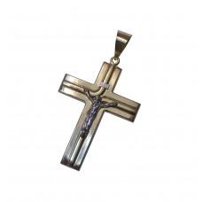 Zlatý přívěsek s Kristem extrémně masivní AUBAZAR0036 - kombinované zlato