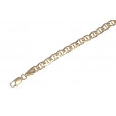 Zlatý pánský náramek háčko DUTÝ AU1178 - žluté zlato