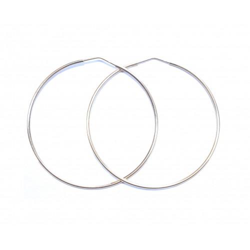 Zlaté náušnice kruhy AU1117 - velké 63 mm