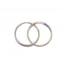 Zlaté náušnice kruhy ryté střední AU0945 - průměr 28 mm