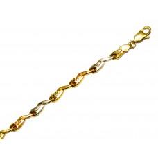 Zlatý náramek v kombinovaném zlatě AU0038