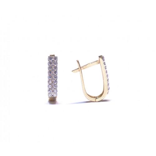 Zlaté dámské náušnice se zirkony AU0410 - žluté zlato