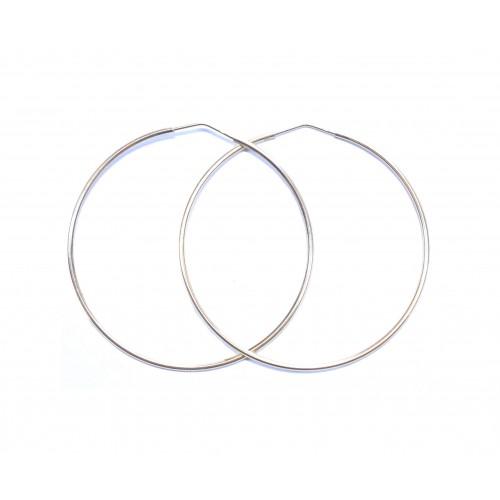 Zlaté náušnice kruhy AU1116 - velké 53 mm