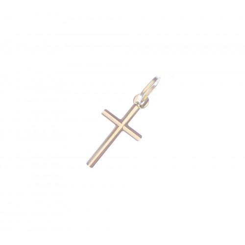 Zlatý přívěsek křížek drobný AU1204 - celozlatý