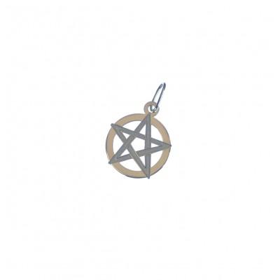 Zlatý přívěsek pentagram AU0129 - žluté zlato