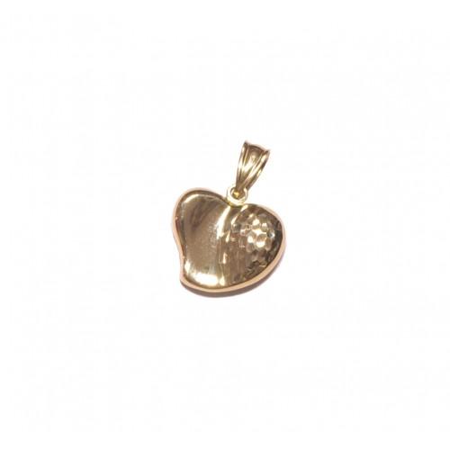Zlatý přívěsek srdce - celozlaté AU0750 - žluté zlato