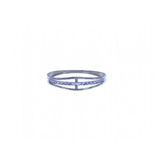 Zlatý dámský jemný prsten bez kamínků AU1151 - kombinované zlato