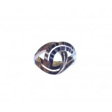 Zlatý dámský masivní prsten bez kamínků AU1085 - kombinované zlato