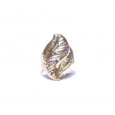 Zlatý masivní prsten celozlatý AU0648 - dvojí zlato