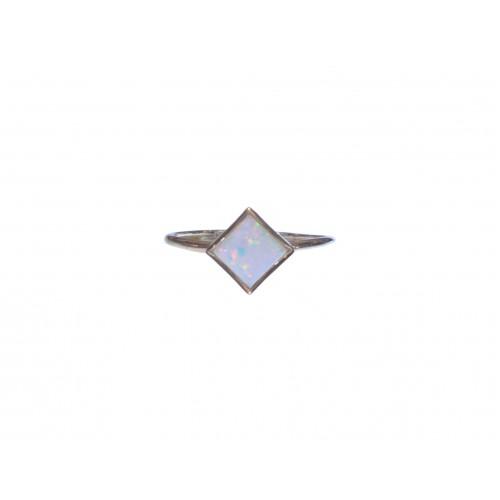 Zlatý prsten s opálem AU1168 - žluté zlato