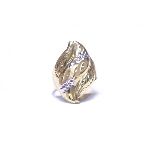 Zlatý masivní prsten celozlatý AU0647 - dvojí zlato