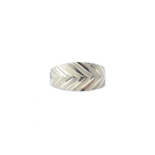Zlatý dámský prsten bez kamínků s gravírováním AU1058 - žluté zlato