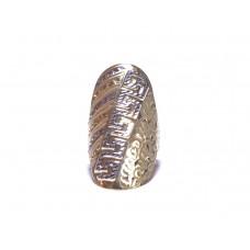 Zlatý dámský extremně masivní prsten s motivem AU0767 - kombinované zlato