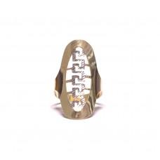 Zlatý dámský extra masivní prsten celozlatý AU0507 - kombinované zlato