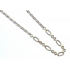 Zlatý dámský řetízek dutý AU1069 - žluté zlato