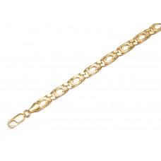 Zlatý masivní řetízek - řetěz paragraf AU0917 - dutý (15,89 gr, 585)