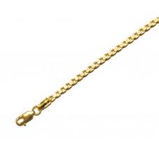 Zlatý masivní řetízek benátský vzor AU0213 - unisex