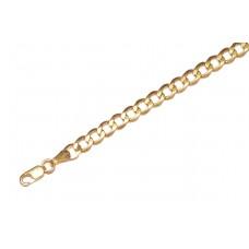 Zlatý masivní řetízek - řetěz pancr AU0924 - dutý - (6,39 gr, 585)