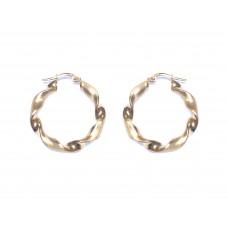 Zlaté náušnice kruhy masivní AU0645 - žluté zlato