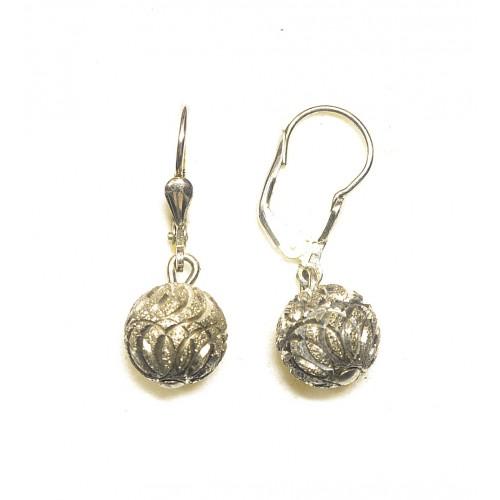 Stříbrné náušnice kuličky - visací bez kamínků AG0046