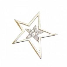 Stříbrný přívěsek hvězda se zirkony AG0089