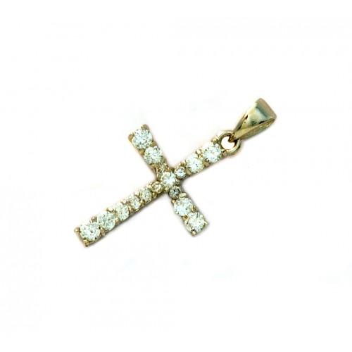 Stříbrný přívěsek křížek se zirkony AG0217