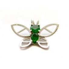Stříbrný přívěsek motýl se zirkony AG0176