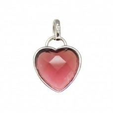 Stříbrný přívěsek srdce AG0078