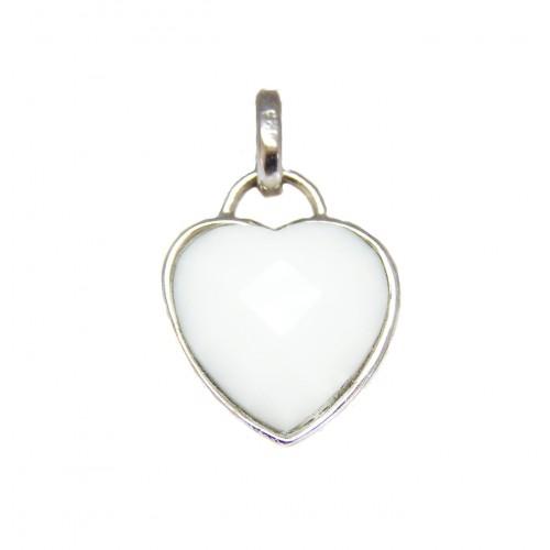 Stříbrný přívěsek srdce AG0079