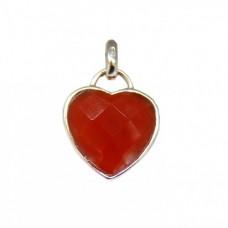 Stříbrný přívěsek srdce AG0080