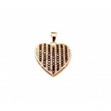 Stříbrný přívěsek srdce AG0119