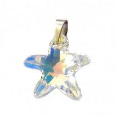 Stříbrný přívěsek Swarovski elements - mořská hvězda SW0026