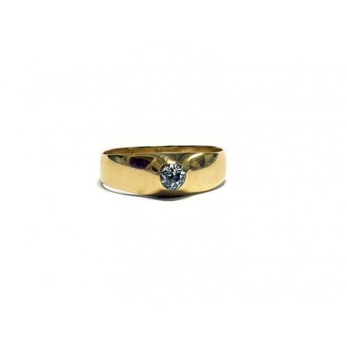 Starožitný zlatý prsten s diamantem AUBAZAR0053