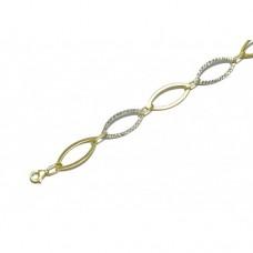 Zlatý dámský náramek AUBAZAR0030 - kombinované zlato