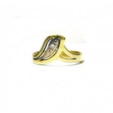 Zlatý prsten s přírodním diamantem AUBAZAR0007