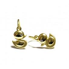 Zlaté dětské náušnice kačenky ve žlutém zlatě AU0336